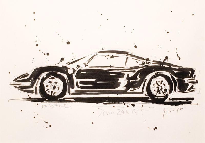 画像2: Ferrari Dino246 GT 原画/スミヤヤスヒト