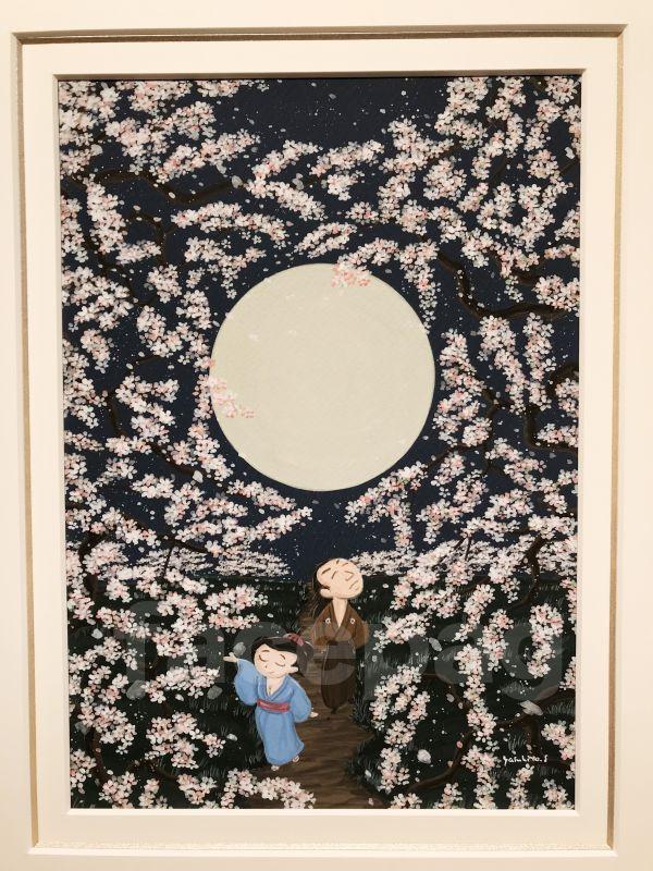 画像2: 坂本龍馬イラスト原画 - おりょうさんの花見2 -