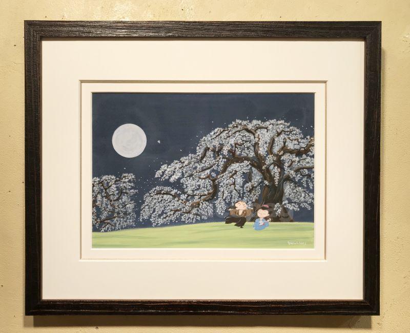 画像1: 坂本龍馬イラスト原画 - 桜の木の下で、、、 -