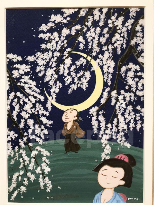 画像2: 坂本龍馬イラスト原画 - おりょうさんの花見 -