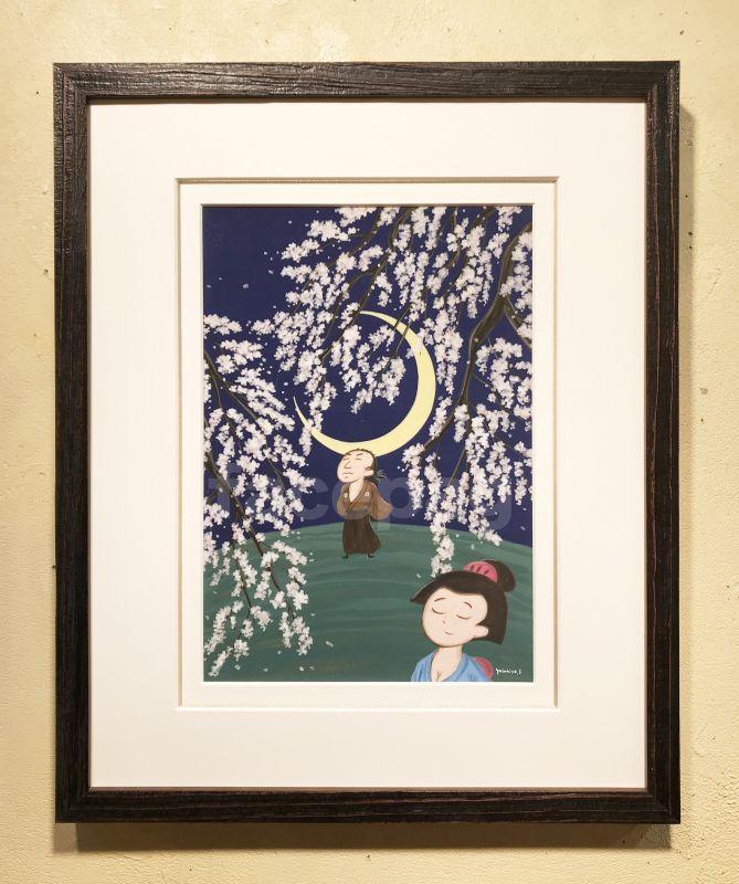 画像1: 坂本龍馬イラスト原画 - おりょうさんの花見 -