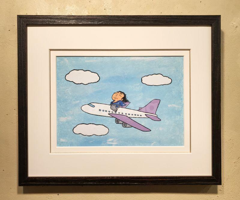 画像1: 坂本龍馬イラスト原画 - 飛ぶぜよ〜 -